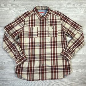 The North Face Plaid Flannel Button Shirt XL U82
